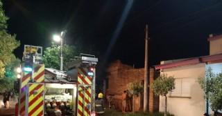 Se incendió una vivienda de Necochea al 700