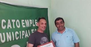 El Sindicato de Empleados Municipales de Rojas reconoció a Marcelo Luman