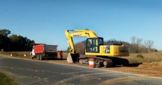 Comenzó la reconstrucción de alcantarillas en las rutas provinciales 31 y 32