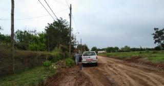 Está comenzando la obra de cordón cuneta en la calle Hernández
