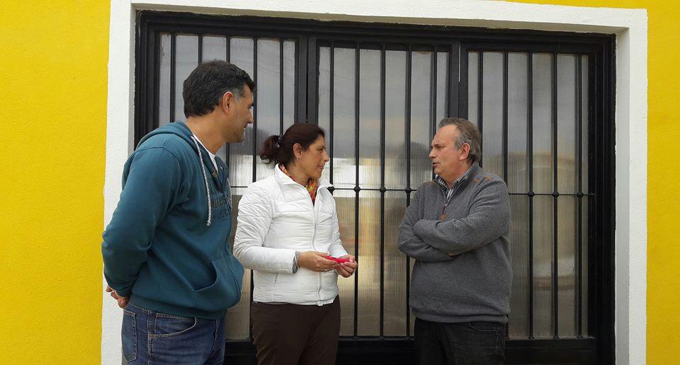 El diputado provincial Gustavo Vignali visitó esta semana la ciudad de Ramallo, para apoyar y acompañar en una caminata por la localidad, al candidato a concejal por Cambiemos, Gustavo Perie.