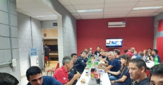 Culminó la visita de la bombera voluntaria chilena Catalina Vidal Vega