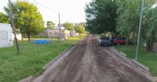 El Municipio intervino en calles de Barrio Santa Rita