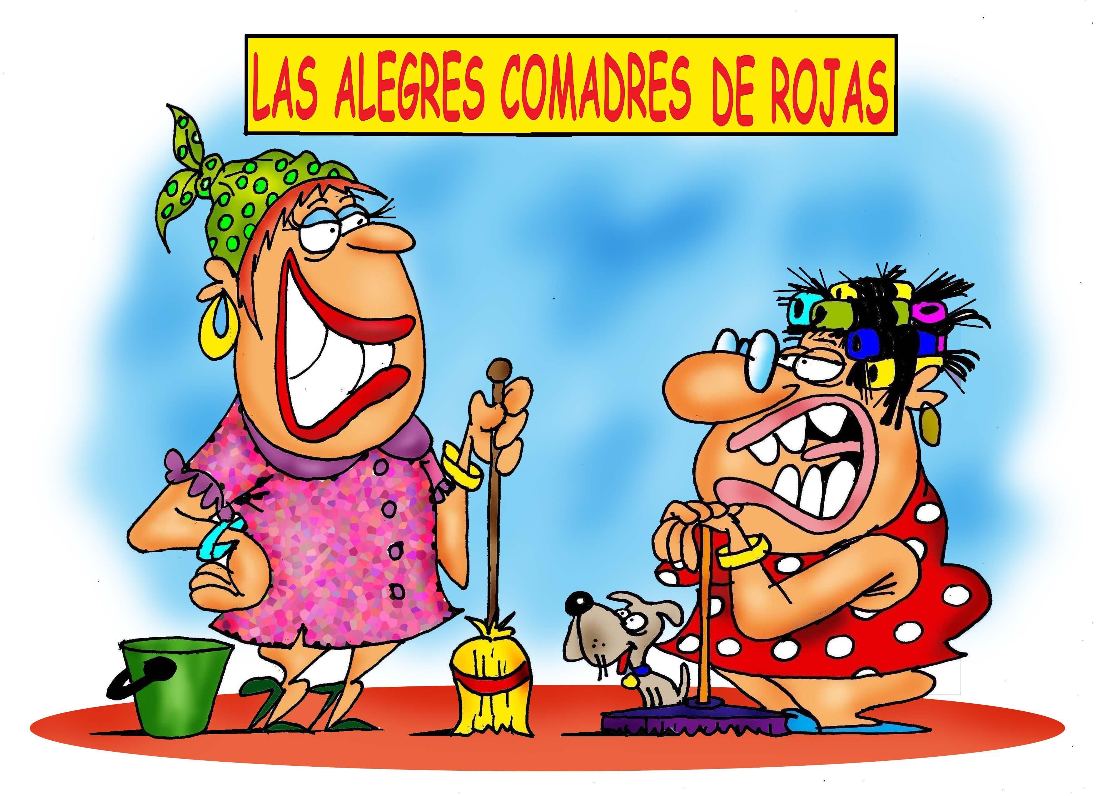Las alegres comadres de Rojas: El Mandamás, la secretaria y la hermana de la secretaria