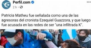 Una de las personas acusadas de agredir al periodista Ezequiel Guazzora es oriunda de Rojas
