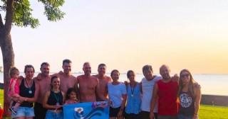 Rojenses participaron del cruce medio en la Laguna de Gómez