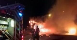 Se incendió un semirremolque en la Rotonda de las Rutas 188 y 31