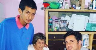 Dirigente del Movimiento Evita visitó a una familia que busca salir adelante