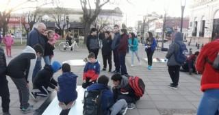 Muestra de Robótica en la Plaza San Martín