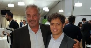 Claudio Rossi con el gobernador Axel Kicillof