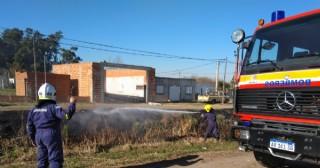 Nueva intervención de los bomberos por incendios de pasto
