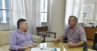 Rossi se reunió con funcionario provincial por obras hidráulicas para Rojas.