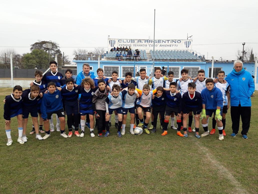 Durante la jornada de este jueves 11 de julio en el estadio del Club Argentino el sector captación de Boca Juniors realizó una prueba de jugadores de las categorías 2009 hasta la 2004.