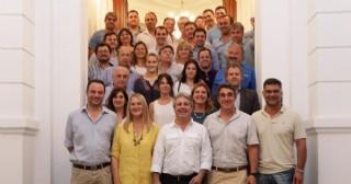 El funcionario municipal de Rojas Osmar Vivero se reunió con dirigentes del PRO