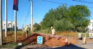Se ejecutan obras en la red de gas natural para las viviendas del ProCreAr