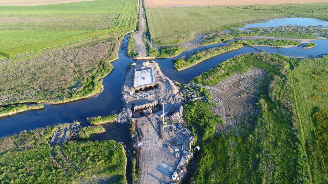 El Municipio distribuyó imágenes aéreas de ambas obras, donde se pueden apreciar los avances que van teniendo.
