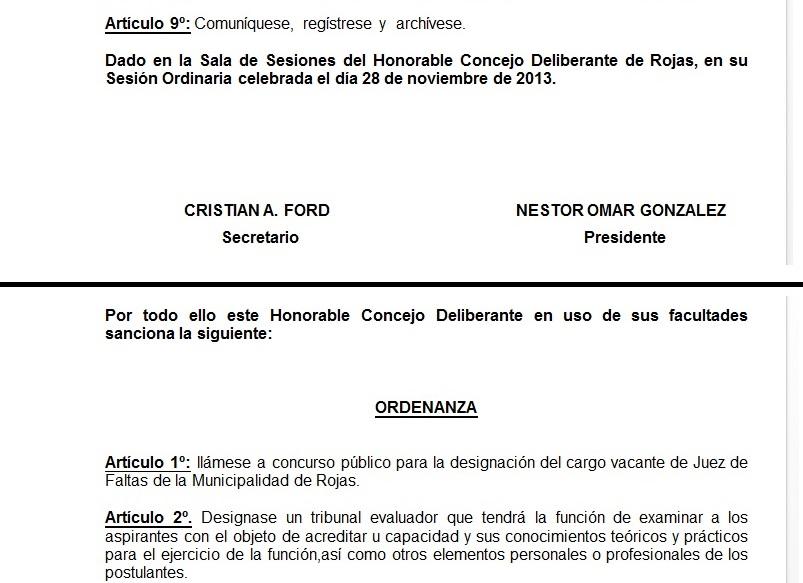 El martes pasado en la segunda sesión ordinaria del año se designó como jueza municipal de Faltas a la abogada Fernanda Burga, con los votos mayoritarios de los ediles de Cambiemos y el GEN.