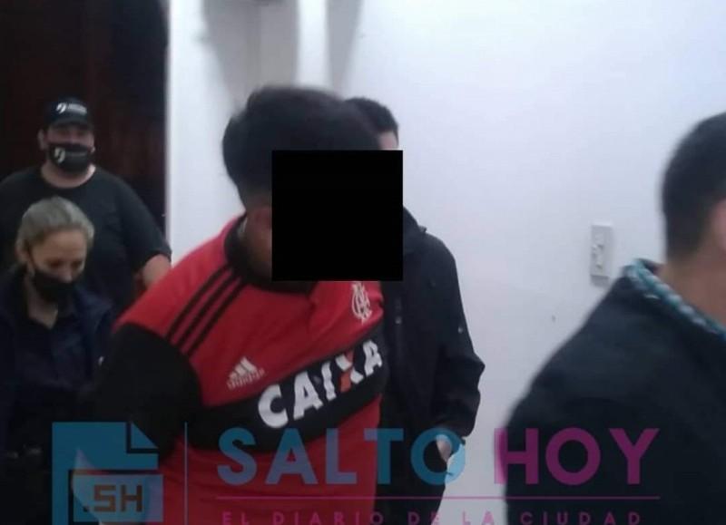 El criminal fue detenido (foto: Salto Hoy).