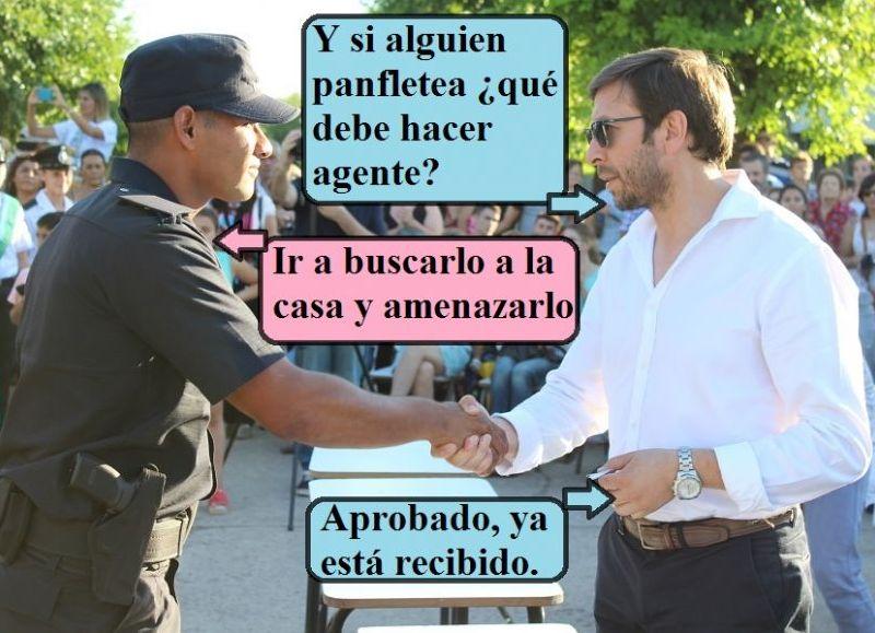 """""""Una pregunta y te graduás"""", parece decirle el ahora capacitado Núñez."""