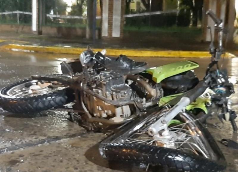 Un herido de consideración (foto: Noticias de Rojas / Patricia Catalano).