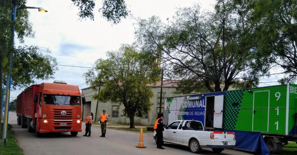 Retén en Ruta 188 y Avenida Helguera (foto de archivo).