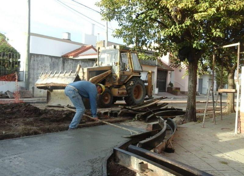 Están finalizando los trabajos en calle Lavalle entre Paso y Frías.