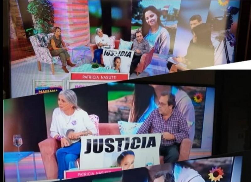 Los padres de la joven estuvieron en Canal 13.