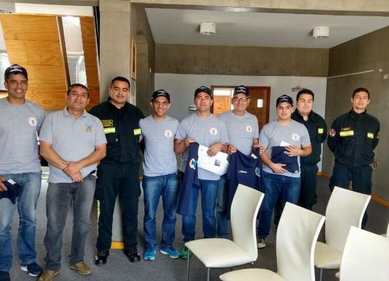 Agentes del cuartel en Santiago