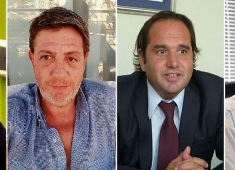 Los cuatro ex funcionarios condenados Javier Gabrielli, Vicente Griselli, Damián Itoiz y Carlos Albaqui.