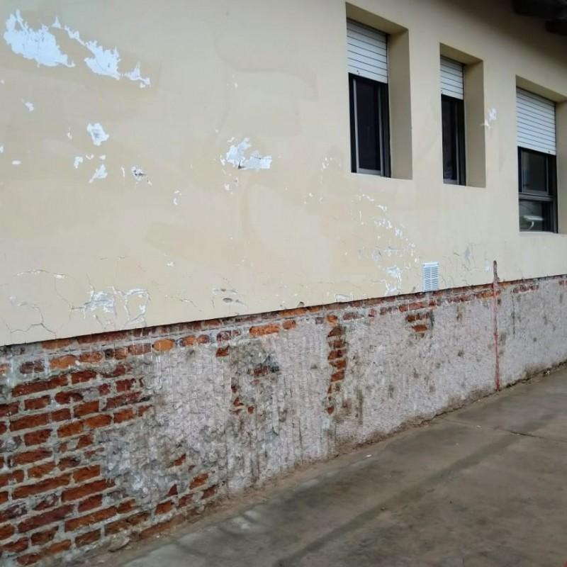 Trabajos en las paredes.