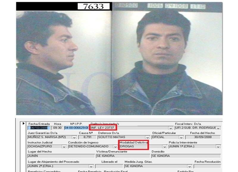 Julio Cesar Rivero, funcionario de la Secretaría de Seguridad de Junín y con prontuario por narcotráfico. (Foto: NOVA)