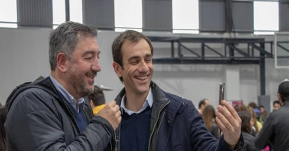 Pablo Petrecca, intendente de Junín y Guillermo Tamarit, de la Universidad del Noroeste.