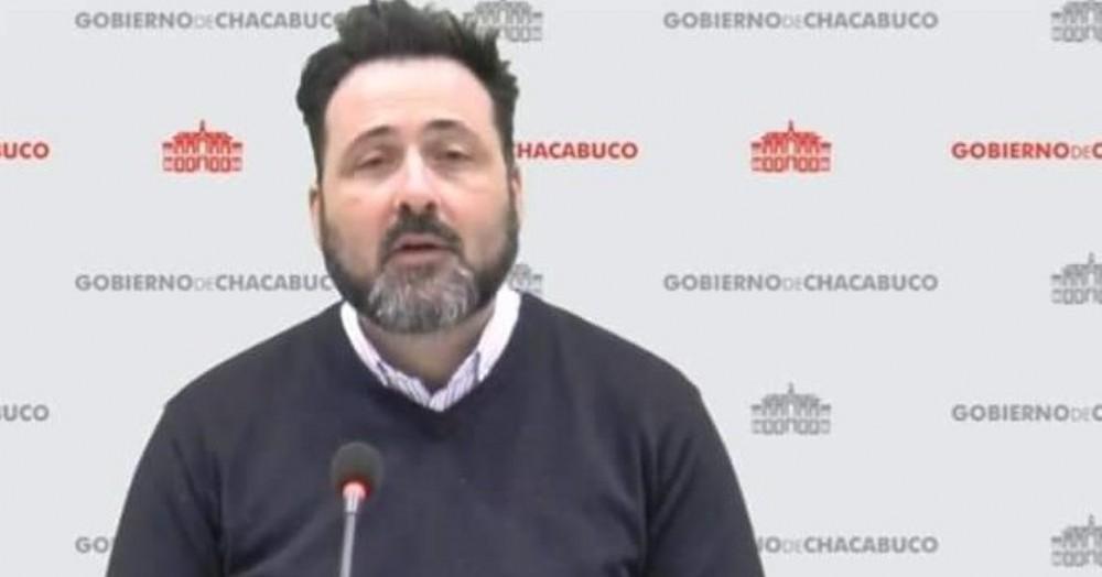 Conferencia del intendente Víctor Aiola.