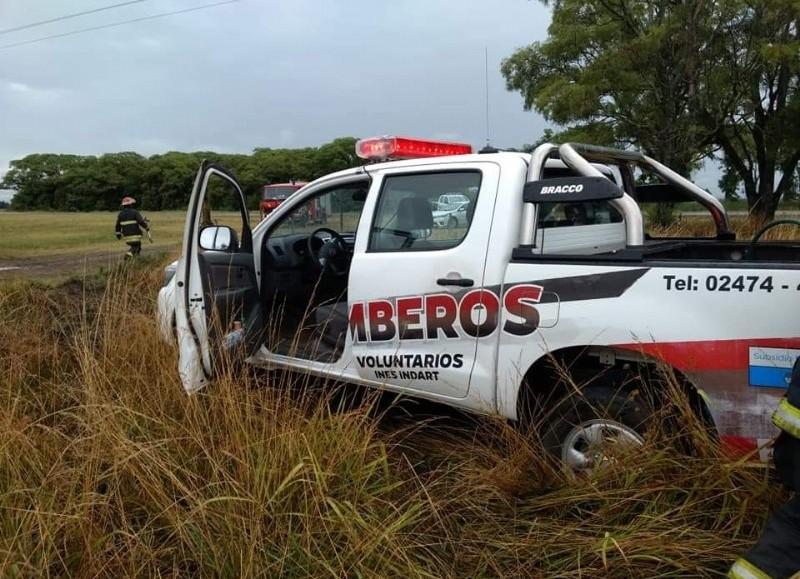 Intervención de los bomberos de Inés Indart.
