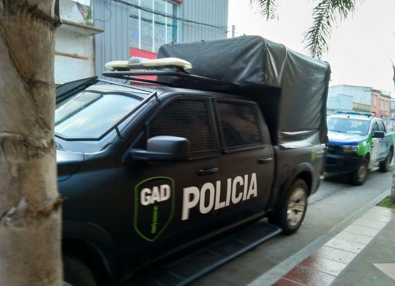 Despliegue policial.