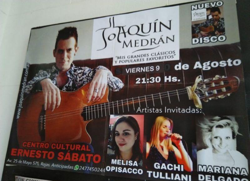 El concierto será este viernes 9 de agosto a partir de las 21.30 horas.