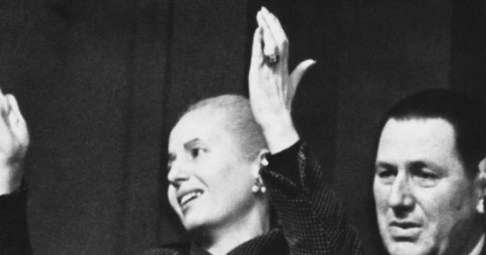 Eva Duarte junto a Juan Domingo Perón.