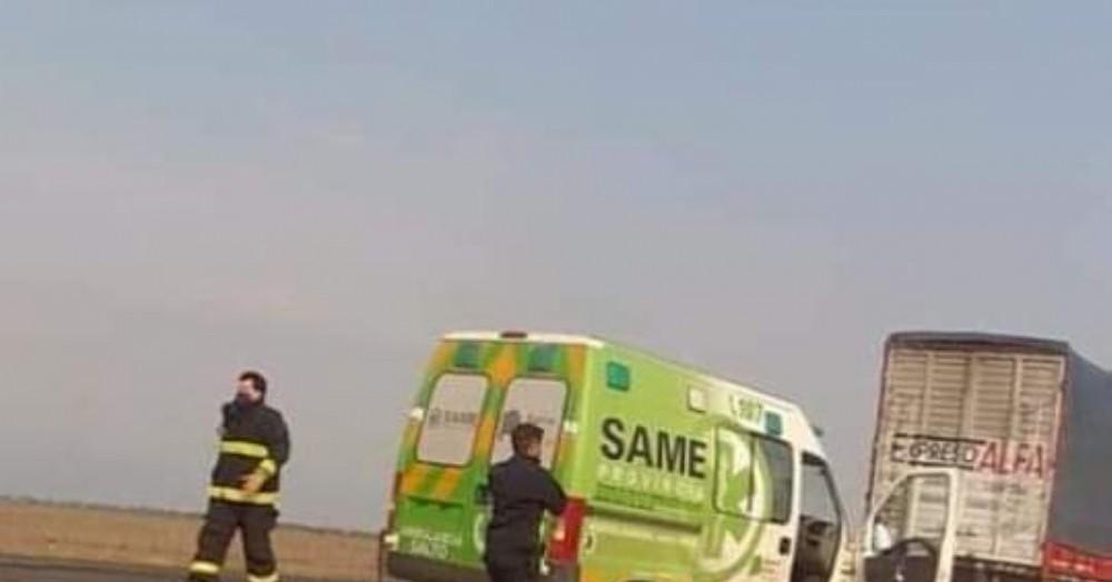 Al lugar acudió una ambulancia del SAME.