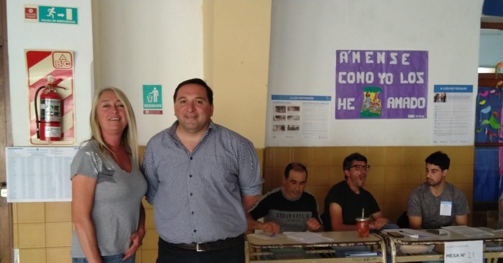 Corina Cuitiño y Javier Membriani.