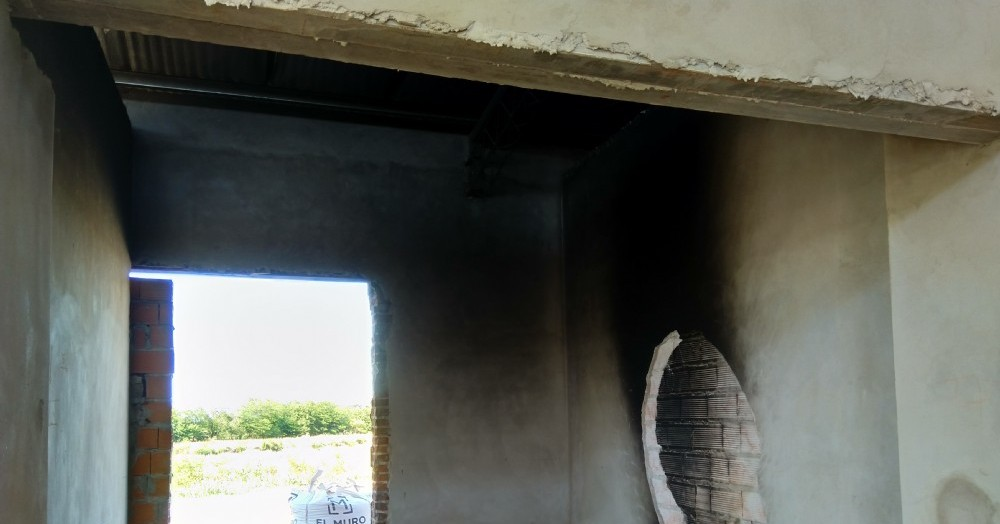 Destrozos en paredes y techos