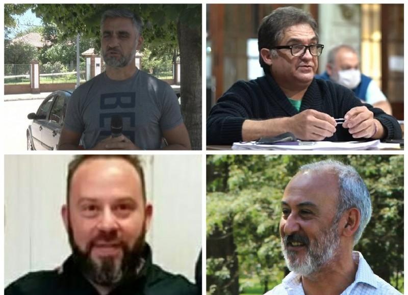 Carlos Salinas, Ricardo Rivolta, Guillermo Lionetti y Luis Caso.
