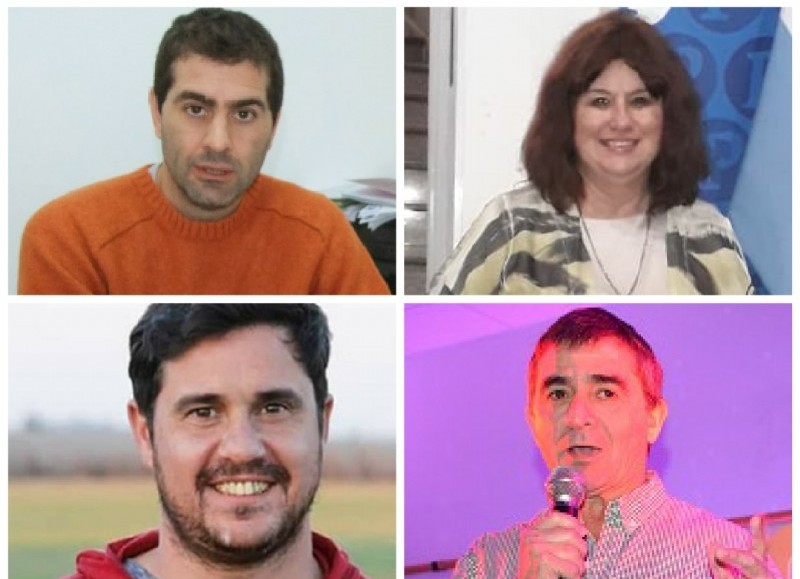 Hernán Quintana, Susana Caldi, Ricardo Bini y Luis Biorlegui.