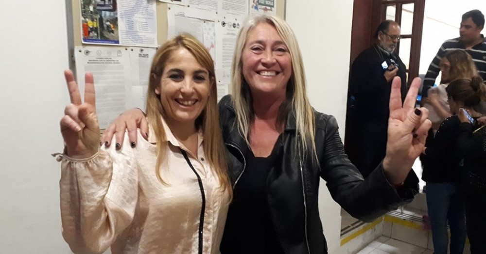 Eugenia Ball Lima y Corina Coutiño.