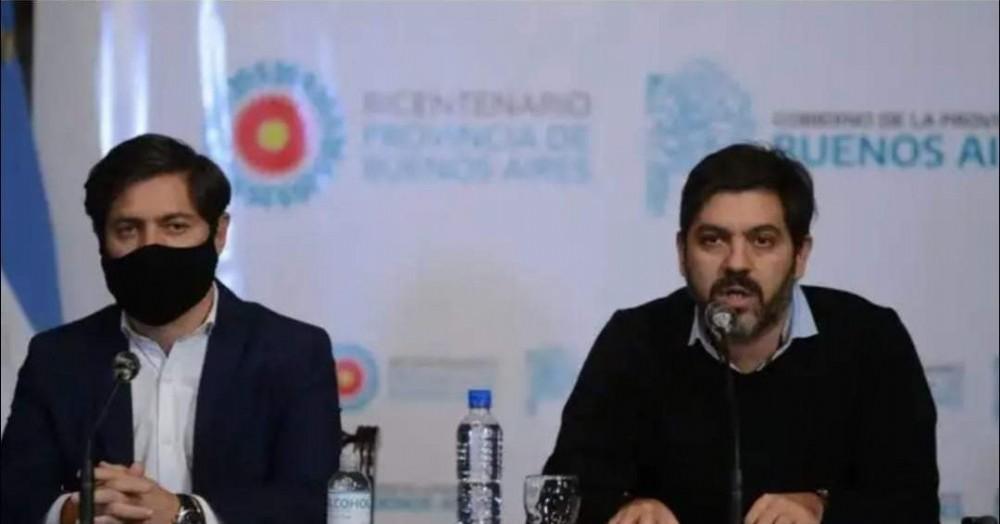 Axel Kicillof y Carlos Bianco.
