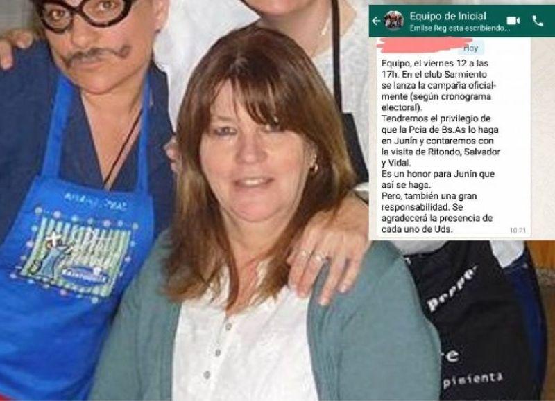 """Graciela Bauer, inspectora de Nivel Inicial y promotora del mensaje de """"agite""""."""