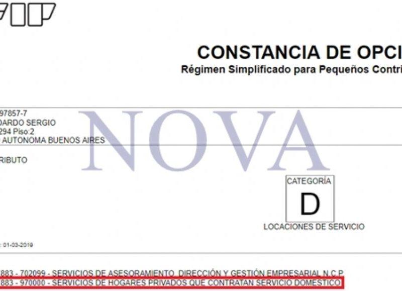 La situación de Lizarraga ante la AFIP. (Foto: NOVA)