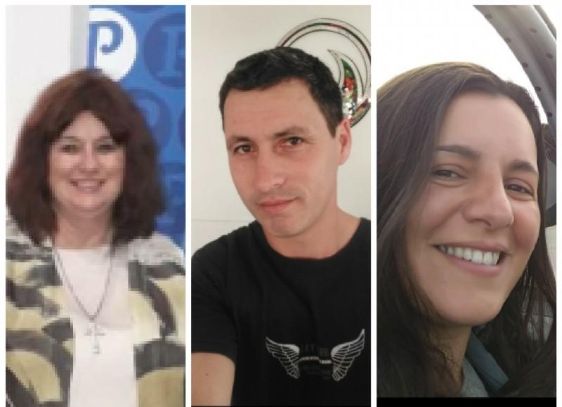 Susana Caldani, Marcelo Vera y Yesica Oyola.