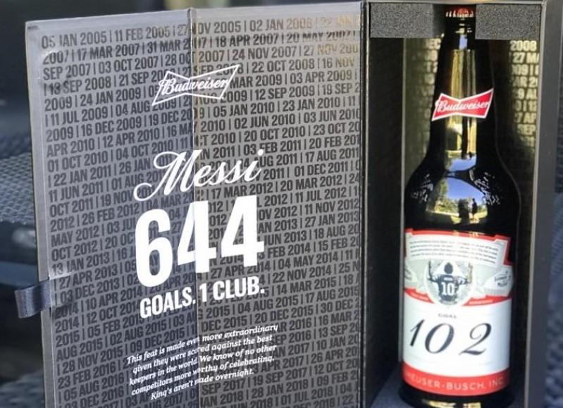La cerveza personalizada en cuestión.