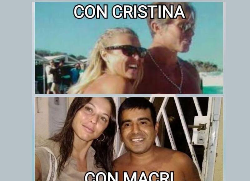 La imagen de Mariquena Cornejo que se viralizó en las últimas horas.