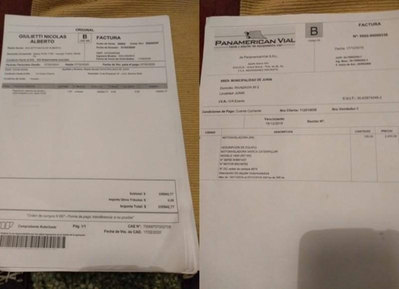 Otras dos facturas restantes con la empresa.